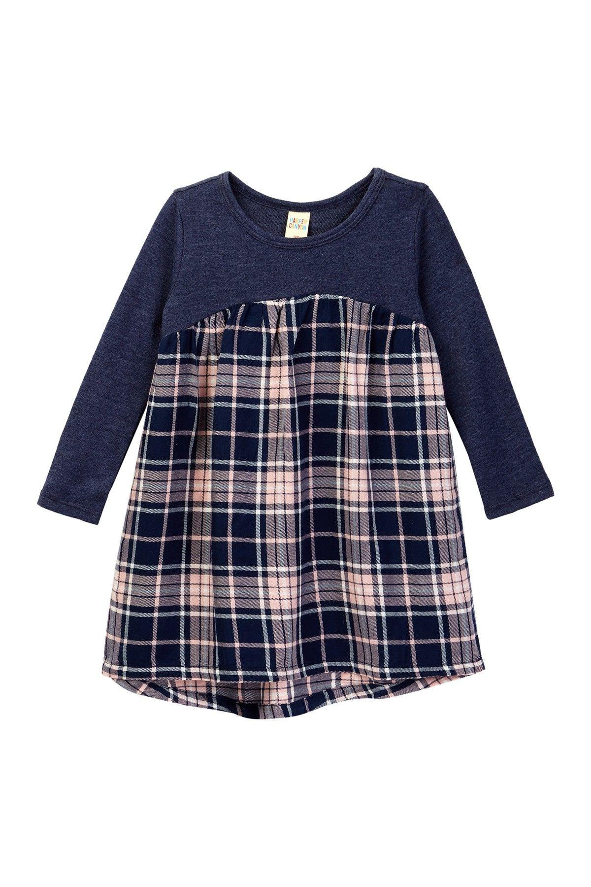 Harper Canyon Mixed Media Fleece Dress Baby Girls