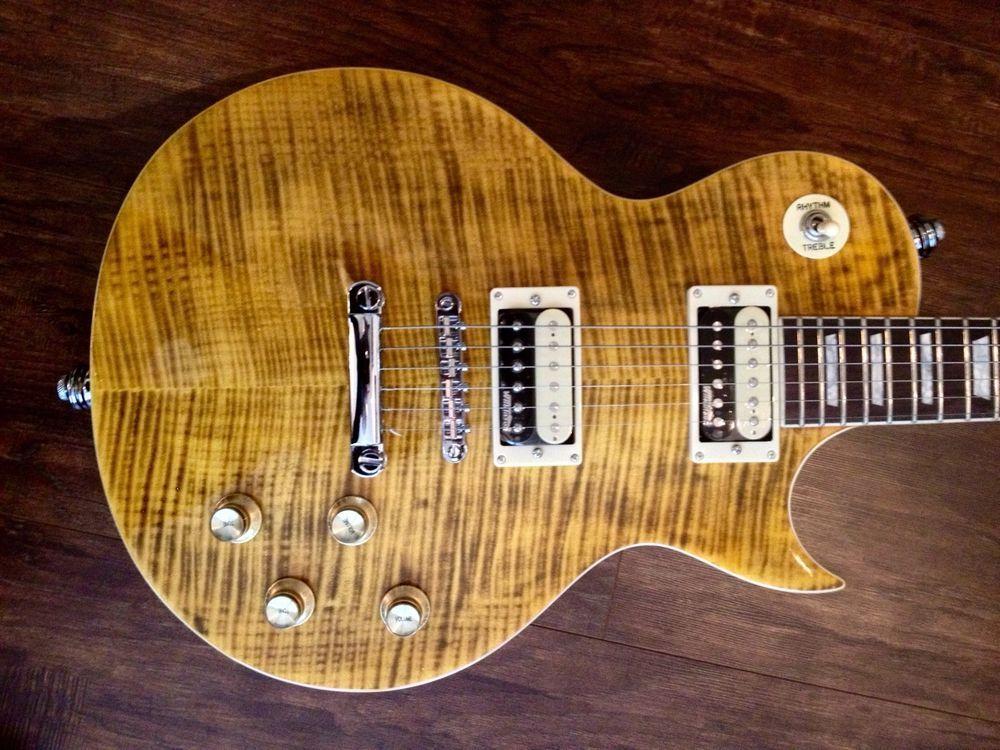 New Vintage V100afd Paradise Flamed Slash Lp Electric Guitar Case Available Vintageguitars Lespaul Electric Guitar Electric Guitar Case Guitar Case