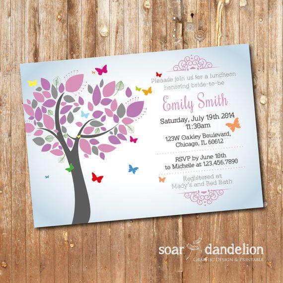 Bridal Shower Printable Invitation. Butterfly by soardandelion, $9.90