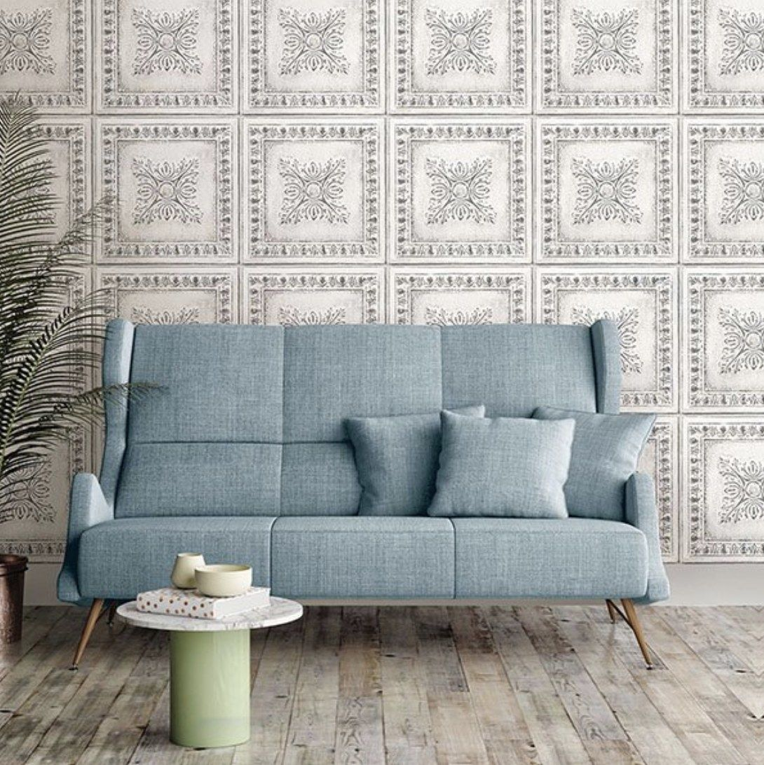 A Set Of Peel And Stick Wallpaper For The Look Of Expensive Tile Without The Hassle Or Price Your Wallet Will Thank You Later Nuwallpaper Peel And Stick Wallpaper Home Decor