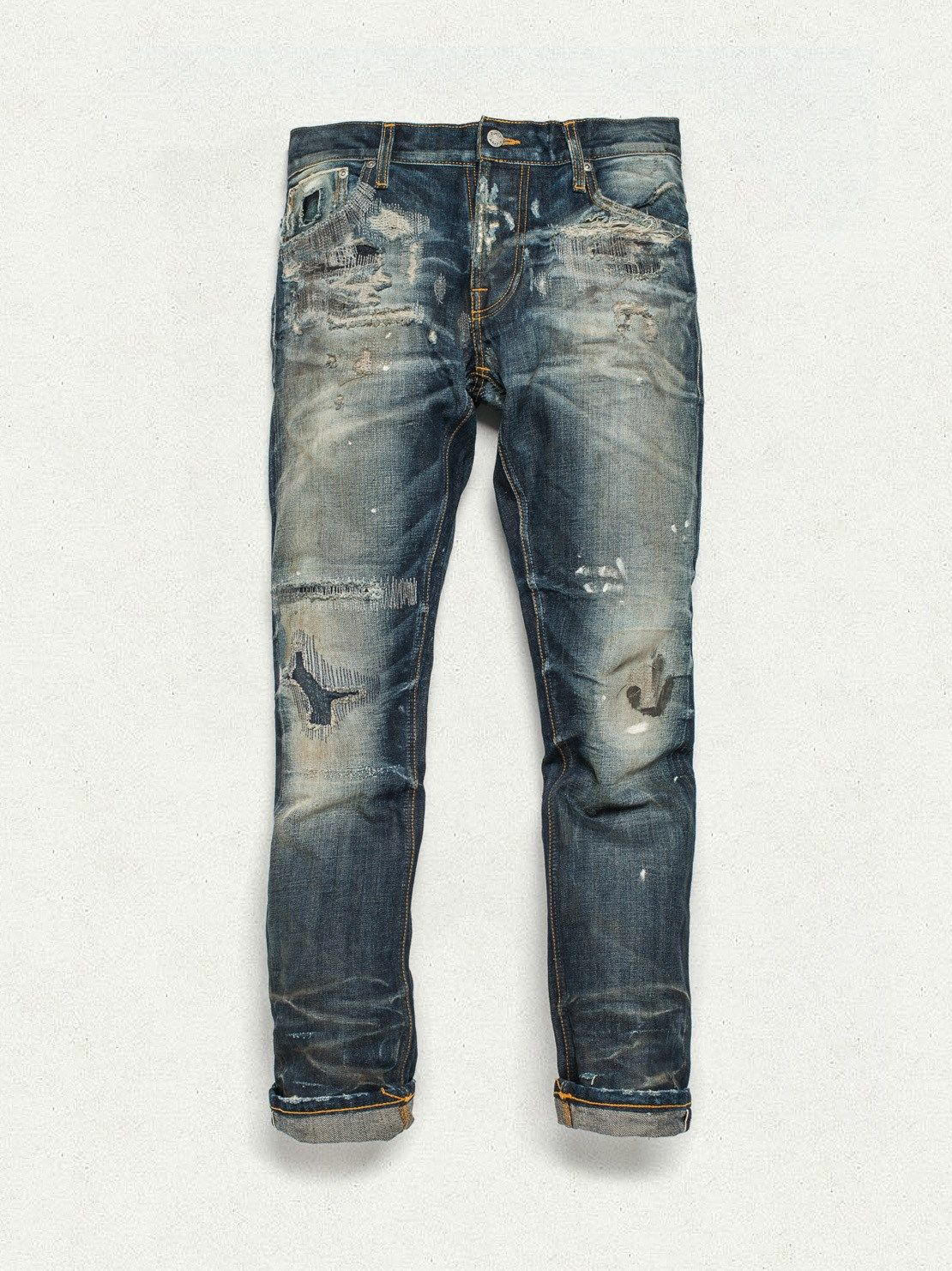 cbef37254b4 Grim Tim Stone Mason Replica - Nudie Jeans *(Note: Usually I'm not a fan of  any pre-distressed or washed jeans but in this case the