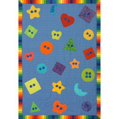 Baby Buttons ~ An Easy Peasy Quick Baby Quilt Pattern! http://www.victorianaquiltdesigns.com/VictorianaQuilters/PatternPage/BabyButtons/BabyButtons.htm #quilting #baby #buttons