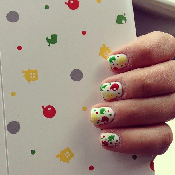 Animal Crossing Nails. #geeknailart
