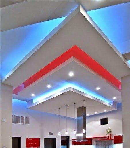 False Ceiling Lights Kitchen: False Ceiling Pop Designs With LED Ceiling Lighting Ideas