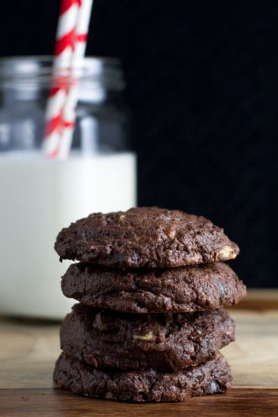 Triple Chocolate Cookies & Food Blogger Cookbook Swap   Digital pl