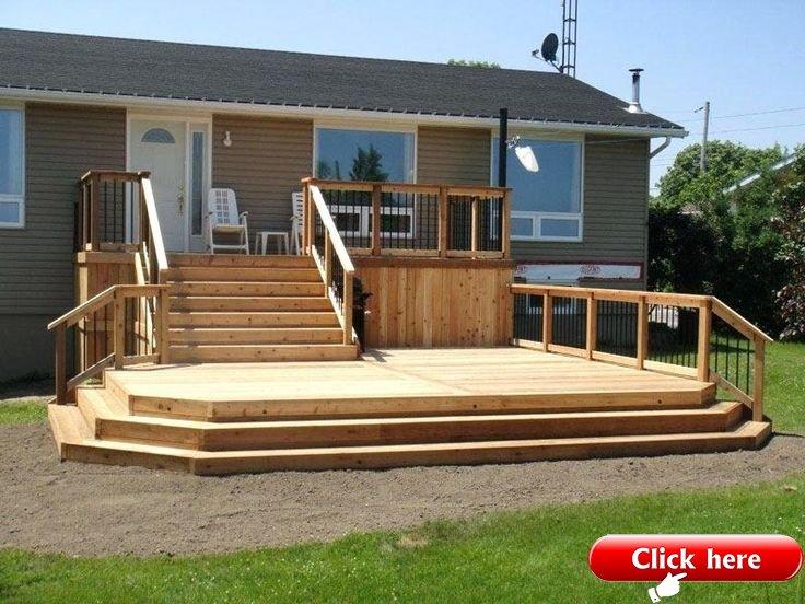 Multi Level Deck Plans Two Level Deck Idea Backyard Decking And Deck Design Mult 2019 Deck Ideas Deck Designs Backyard Decks Backyard Deck Designs Multi Level