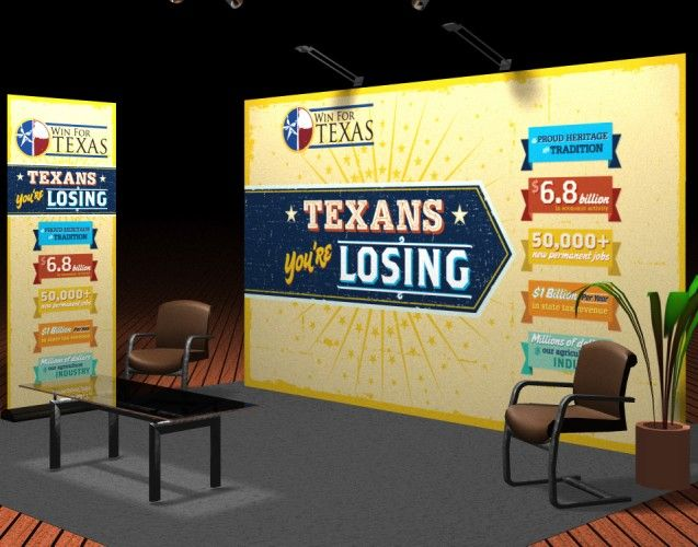 Trade Show Booth Design for Win for Texas | Evidence of Our Passion ...