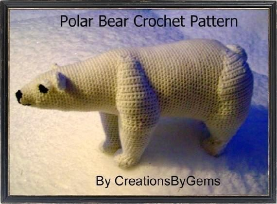 Polar bear pdf crochet pattern polar bear pdf and bears youre going to love polar bear pdf crochet pattern by designer creationsbygems dt1010fo