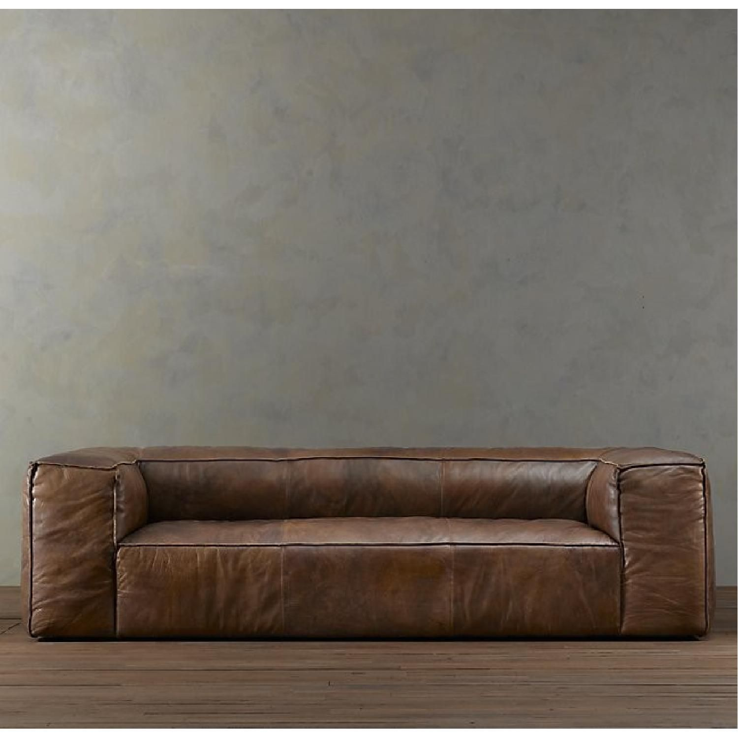 - Restoration Hardware Fulham Leather Sofa (With Images