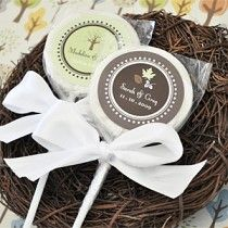 """""""Fall for Love"""" Personalized Lollipop Edible #engagementpartyFavors  can be personalized for ths special celebration. Less than $1.50 each www.instylepartyfavors.com"""