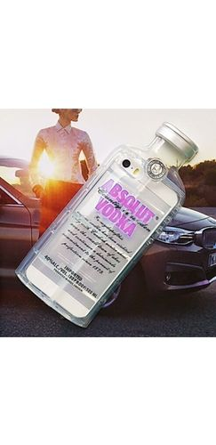 Clear Purple Absolut Vodka Alcohol Bottle TPU Silicone Phone Case Iphone Samsung Cover