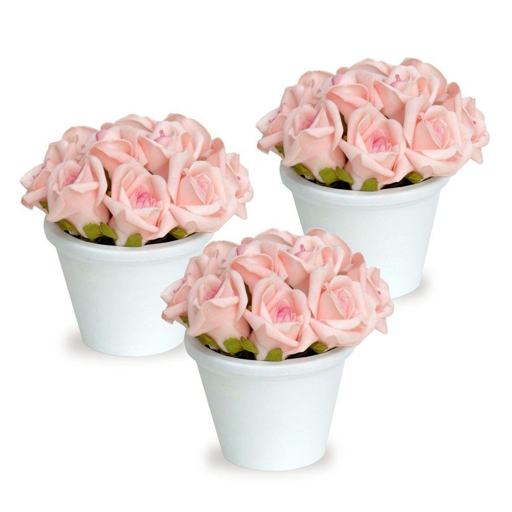O Arranjos Mini De Rosas Trio E Uma Excelente Opcao Para Sua Festa