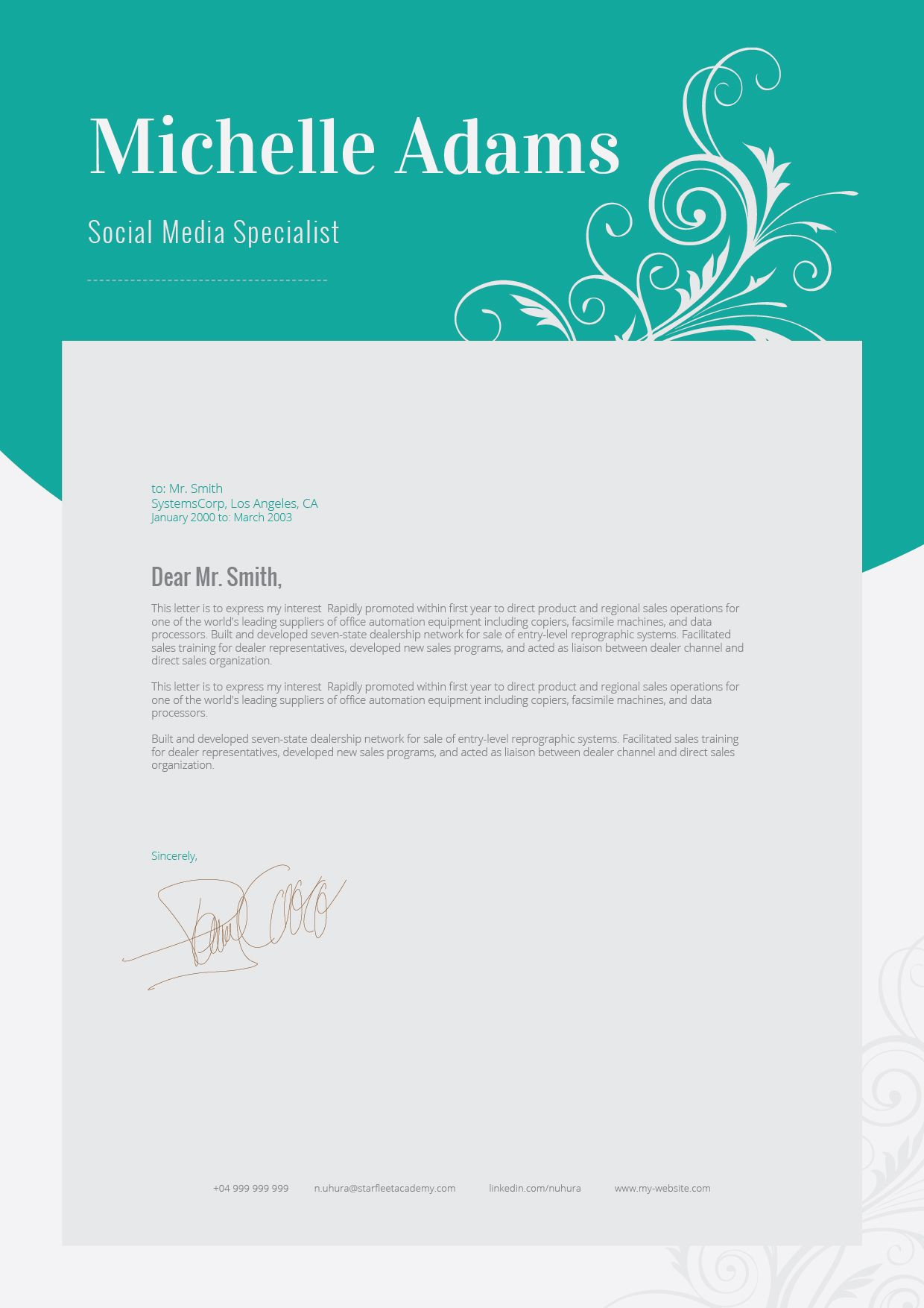 Resume template + FREE Cover Letter   Free cover letter, Resume ...