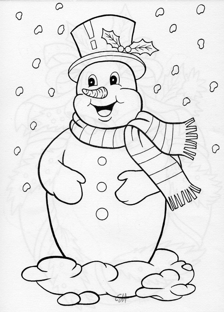Pin By Debra Ramsey On Redwork Snowmen Christmas Coloring Pages