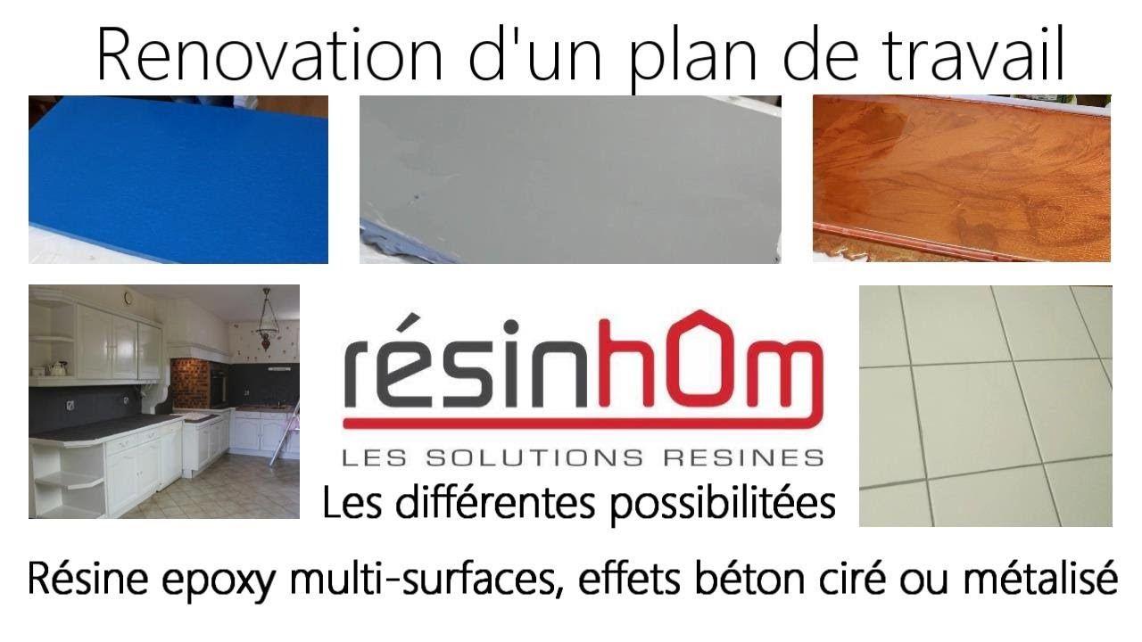 Renover Un Plan De Travail Avec De La Resine Epoxy Multi Surfaces Resine Epoxy Plan De Travail Epoxy