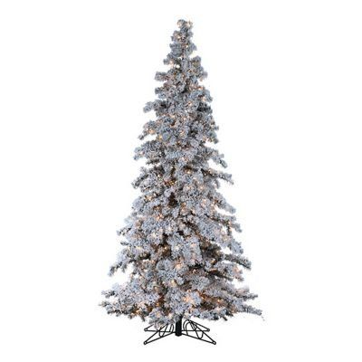 Flocked Tree Heavy Layered Spruce Artificial Christmas Tree Color Clear Size 9 750 Lights *** Click on the image for additional details.