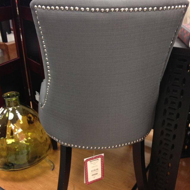 Beau Gray Studded Chair...back