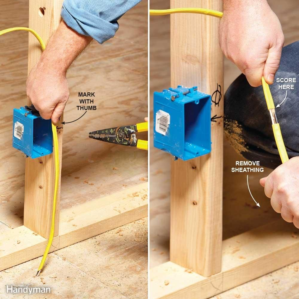 12 Tips For Easier Home Electrical Wiring Pinterest Diy Strip Cable Sheathing First Its Tempting To Push Your Roughed In