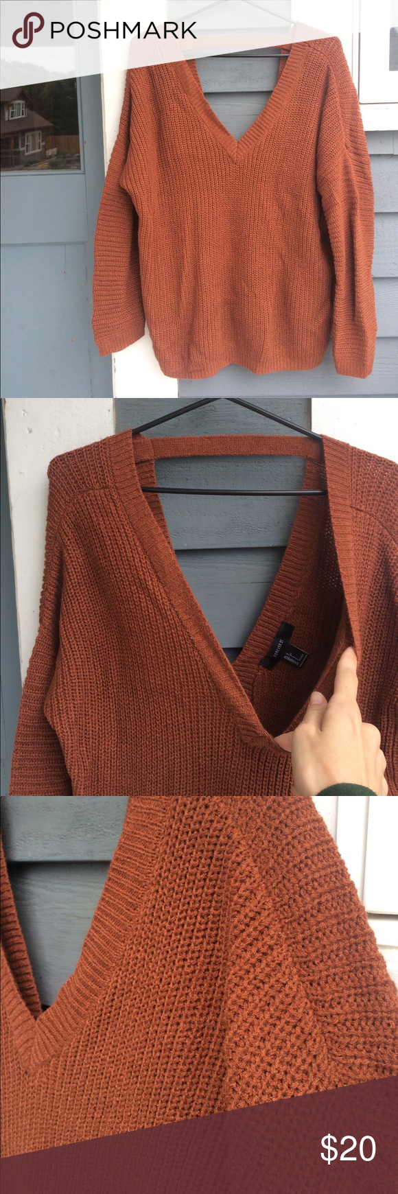 Sweater | Cas, Burnt orange and Forever 21