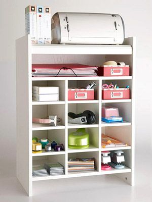 Shoe cubby to organize scrapbooking supplies!  Love it!!!