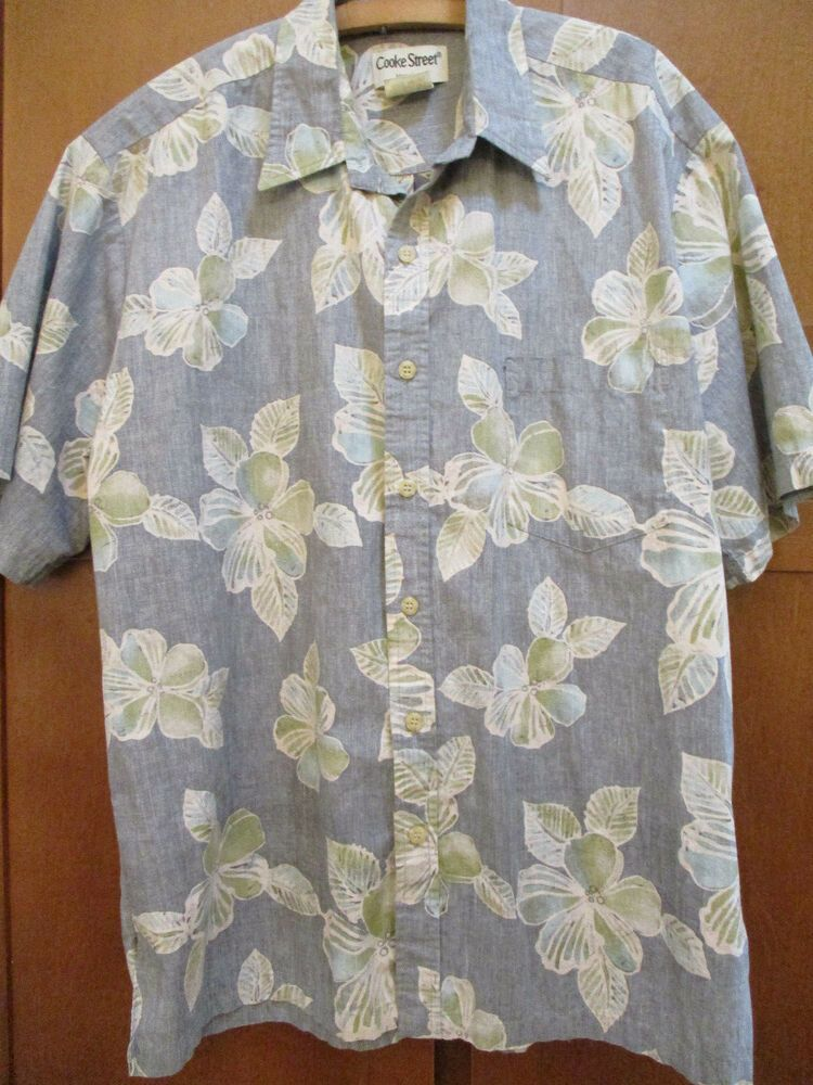 73264d00 Cooke Street Large Aloha Friday Hawaii Shirt Reverse Print Hidden Pocket  USA #COOKESTREET #Hawaiian