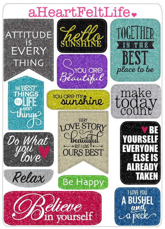 Motivational Quote Sticker Set For Your Planner By Aheartfeltlife