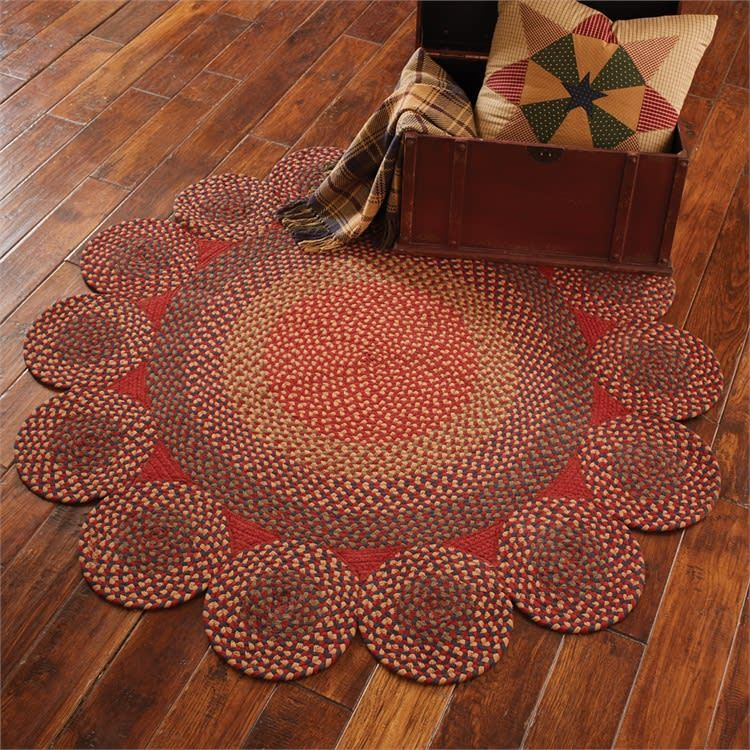 Circle Circles Braided Rug 54 Dia Braided Rugs Braided Wool Rug Rugs