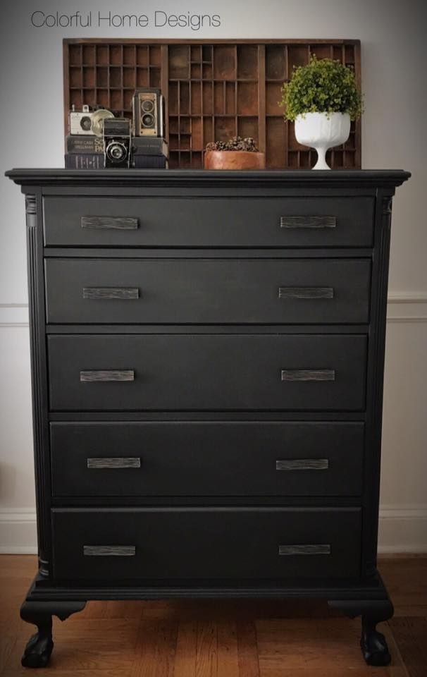 lamp black dresser and side table general finishes design center