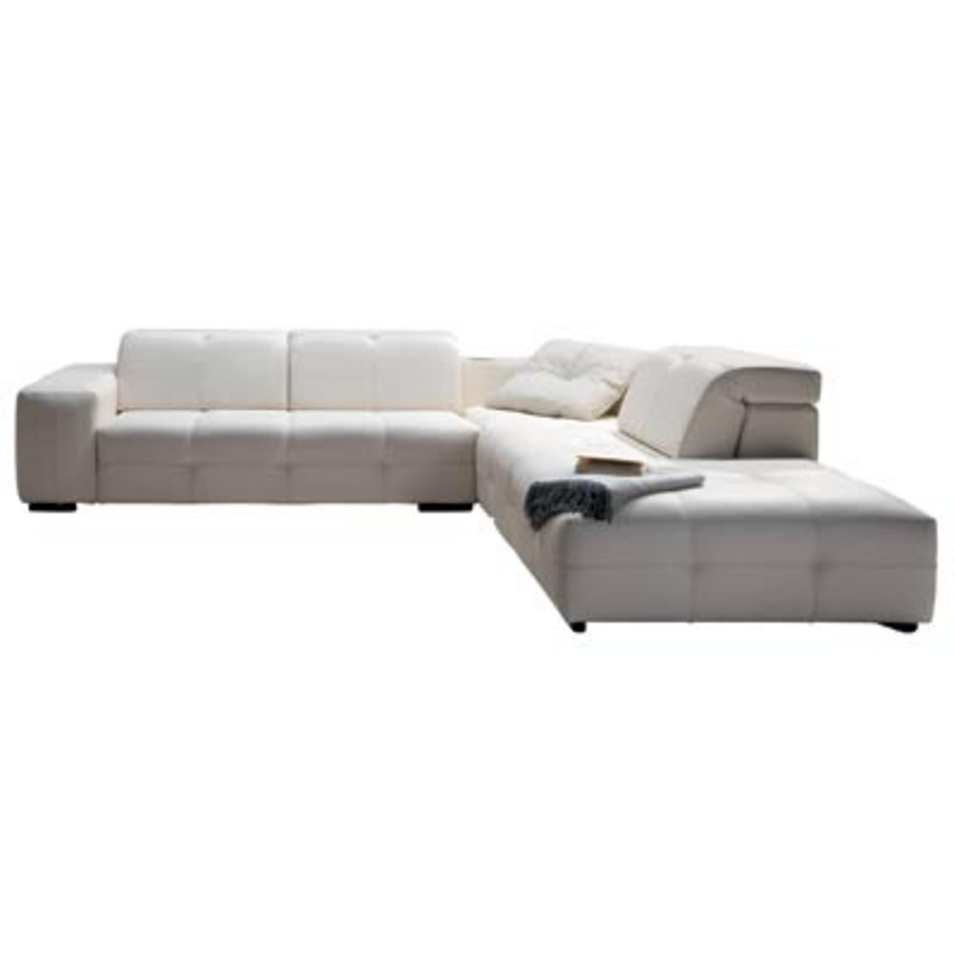 Scandinavia Furniture NATUZZI PLAZA CREAM LEATHER SECTIONAL