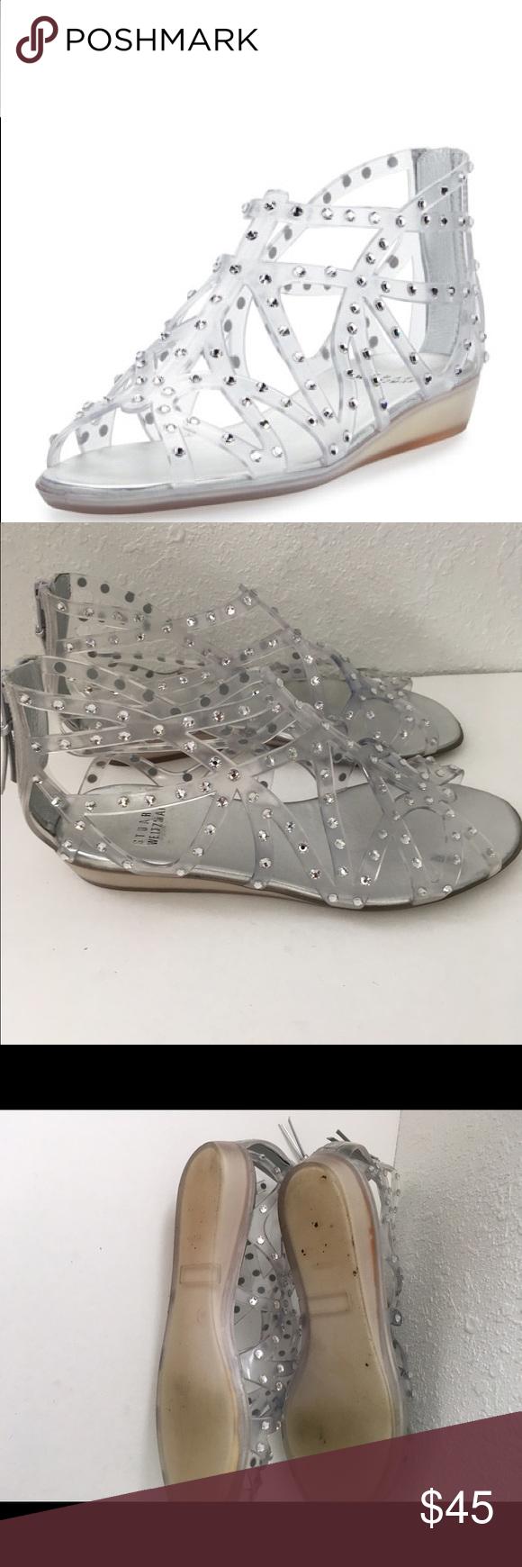 02c19717ee2f Stuart weitzman glogladius jelly sandals 39 9 Caged jelly sandals. Worn by  a non smoker. Zip up the back. Size 39 or 9 Stuart Weitzman Shoes Sandals