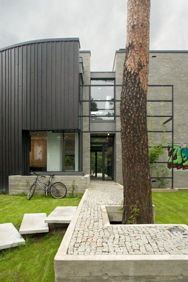 Open Air Sculpture Mra G Pavers And Walkways Pinterest - Open-air-sculpture-residence-by-marek-rytych-architekt