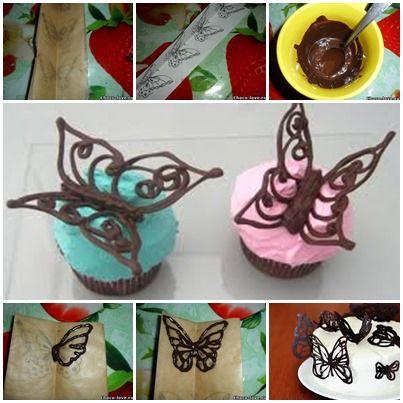čokoládový motýli