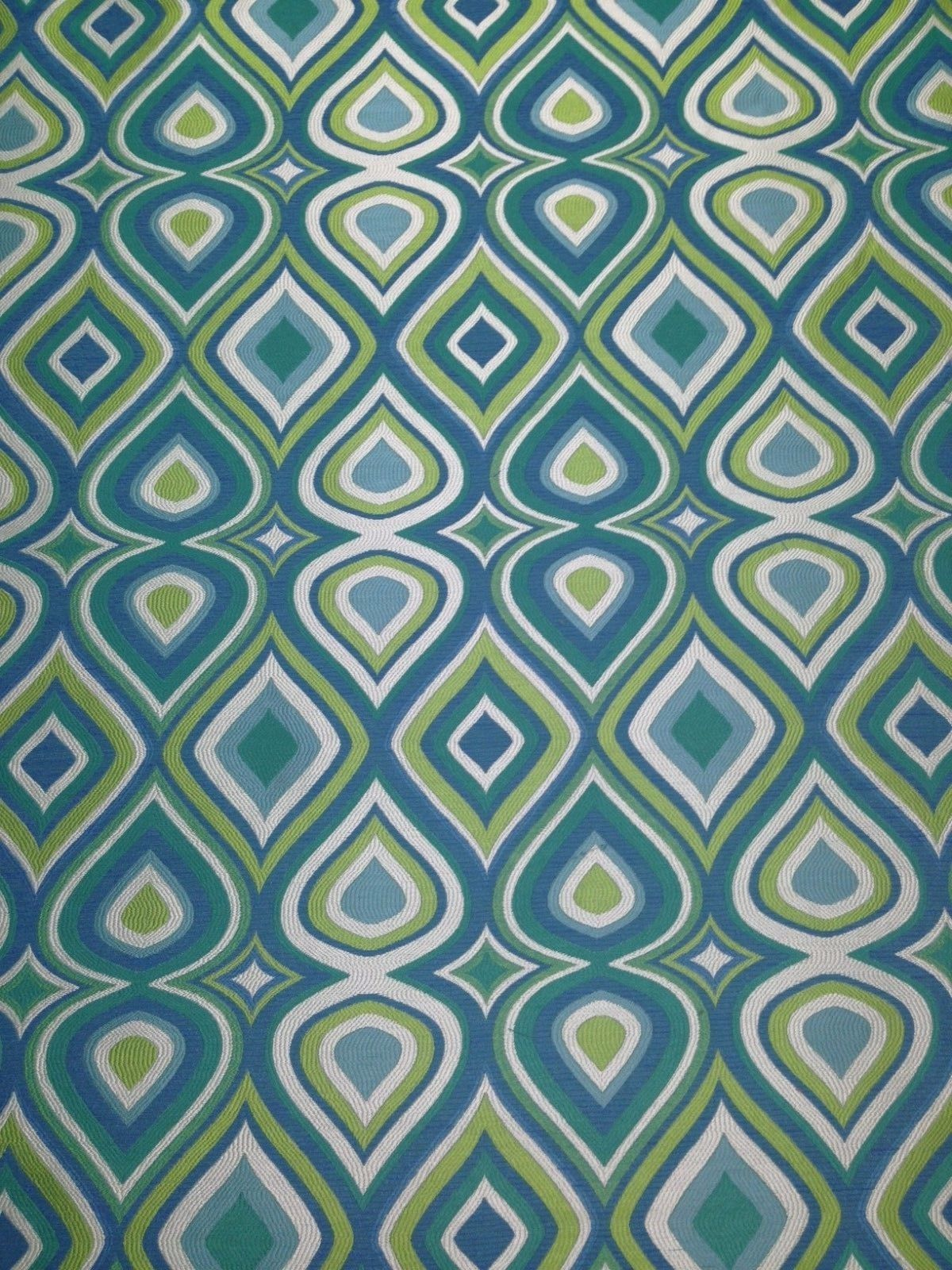 richloom doyle calypso green jacquard geometric upholstery fabric by