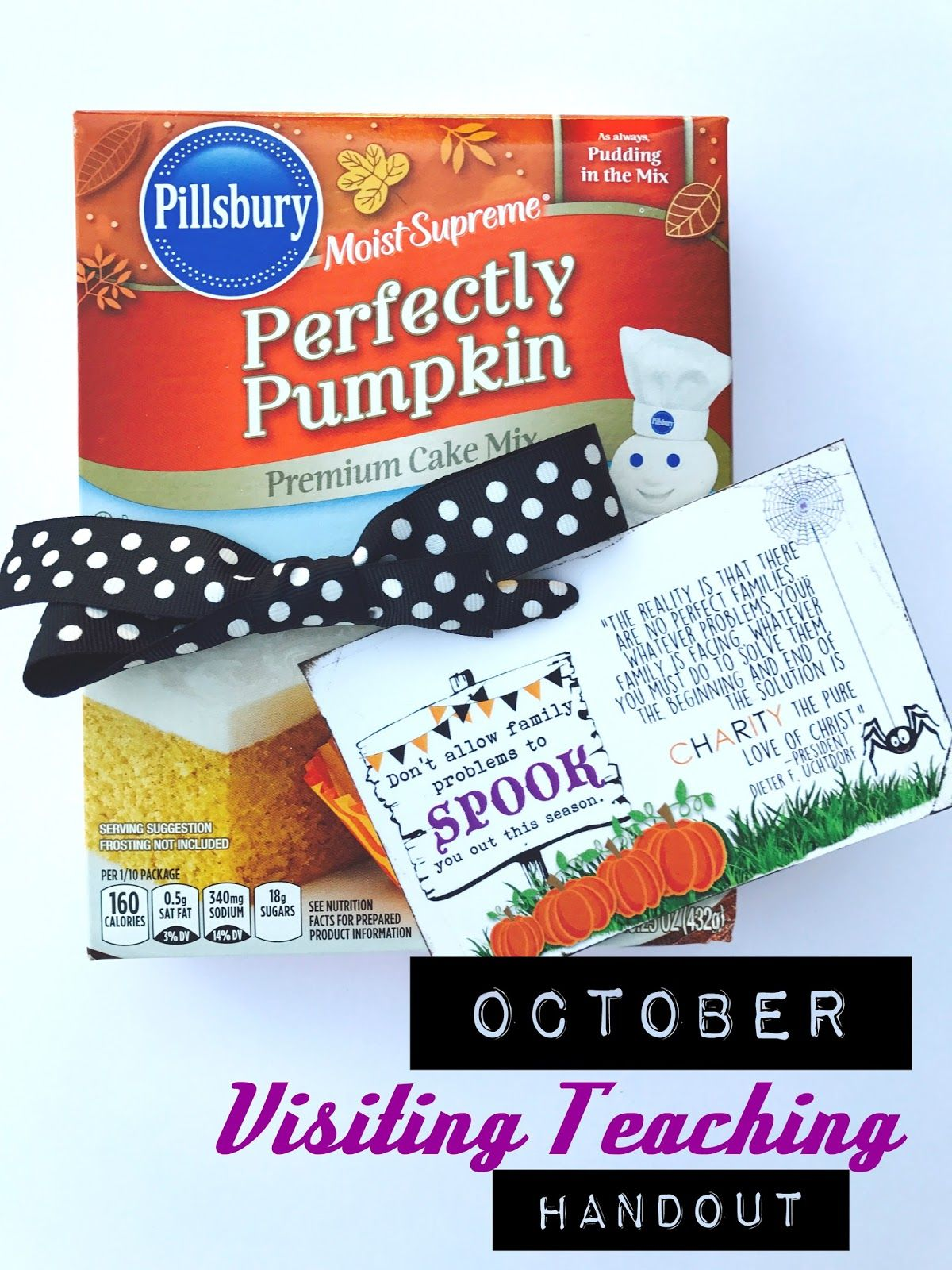 FREE Visiting Teaching tags for October: Family and Charity | Church ...