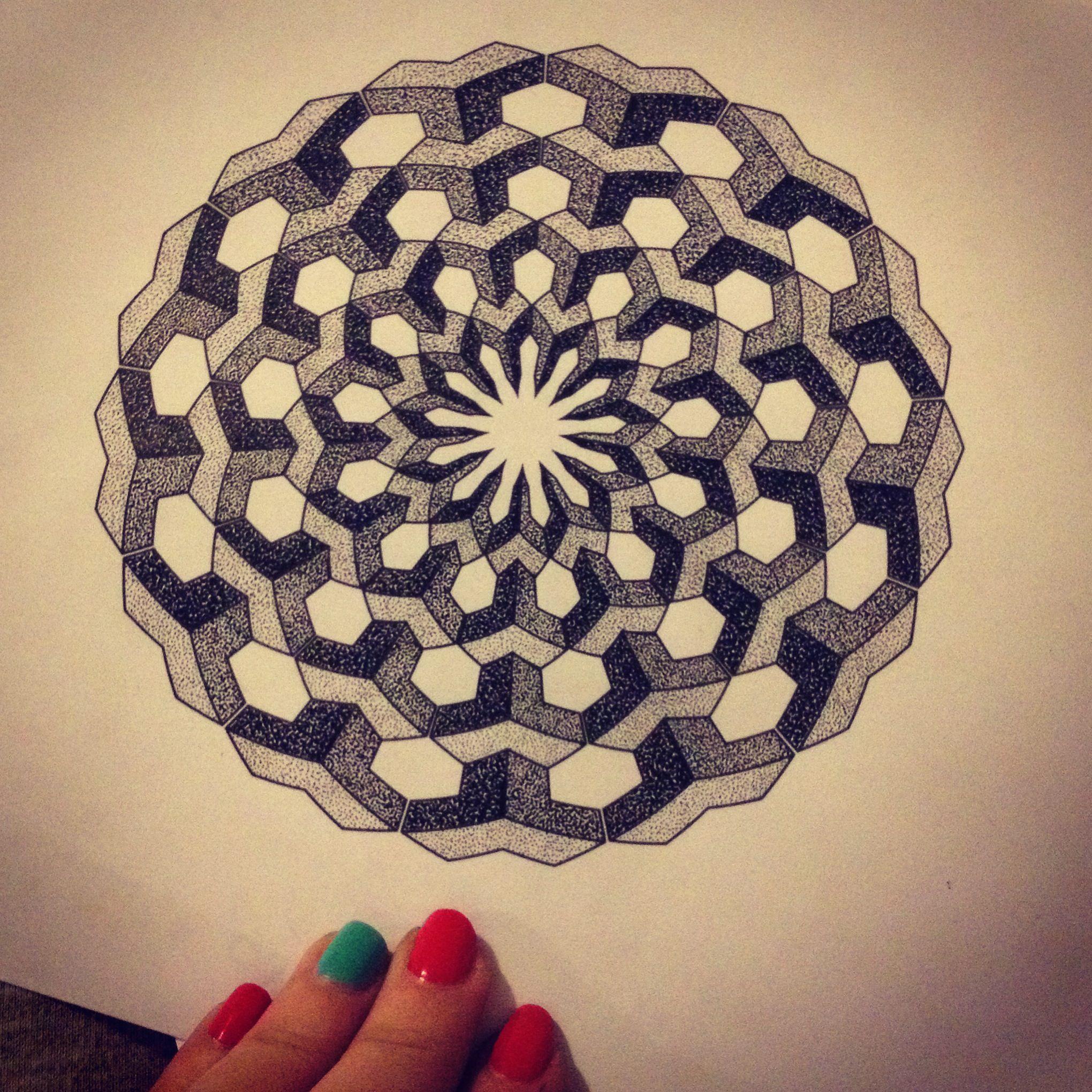 geometric dotwork mandala design by natasha papadakos tattoos pinterest natasha o 39 keeffe. Black Bedroom Furniture Sets. Home Design Ideas