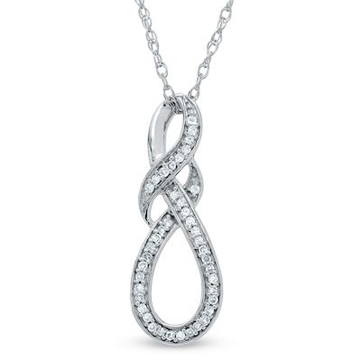 Zales Diamond Accent Knotted Swirl Pendant in Sterling Silver obyL71