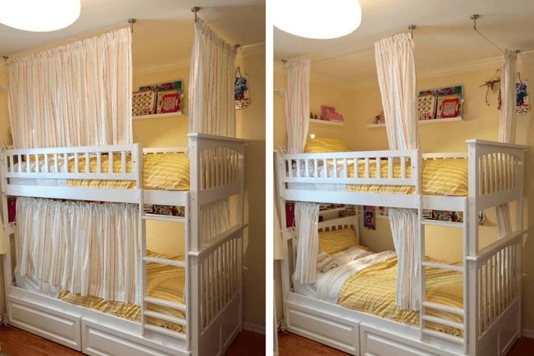 ikea kura bunk bed curtain Google Search Bunk bed