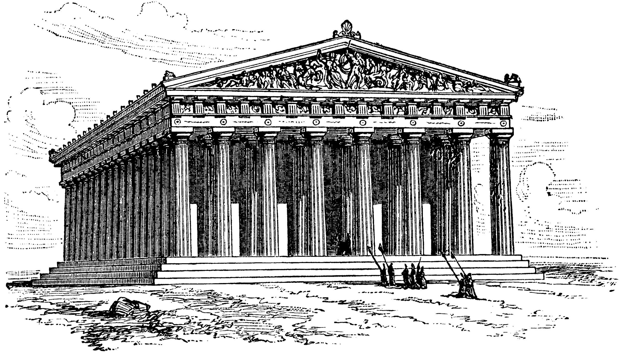 Parthenon In Perspective Greek Buildings Parthenon Classical