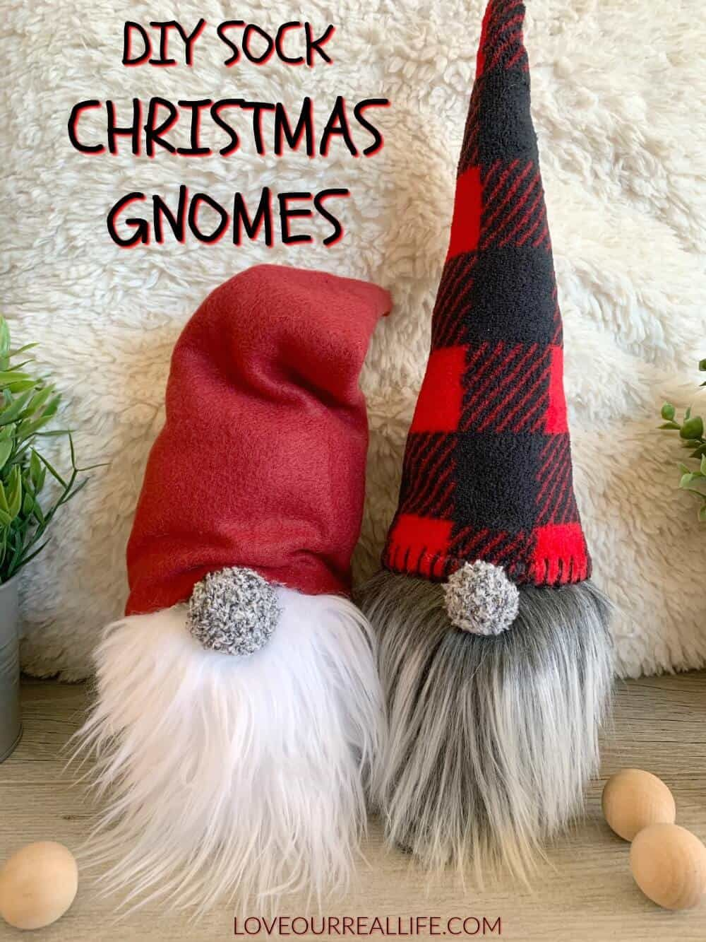 How to Make Christmas Gnomes Sew and No Sew Sock Instructions ...