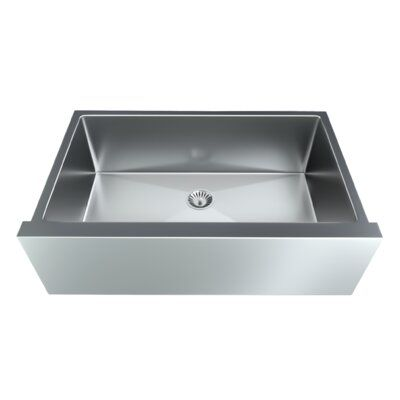 Valley Acrylic Ltd Straight 33 L X 20 W Undermount Kitchen Sink With Basket Strainer In 2019 Products Apron Sink Kitchen Farmhouse Sink Kitchen Single