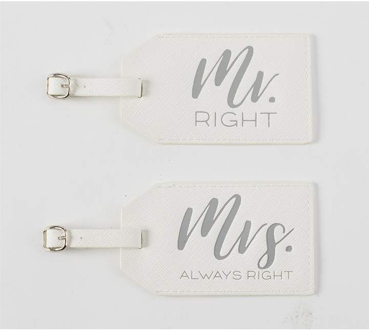 Dillards Wedding Gifts: Mud Pie Wedding Collection Mr & Mrs Luggage Tag Set