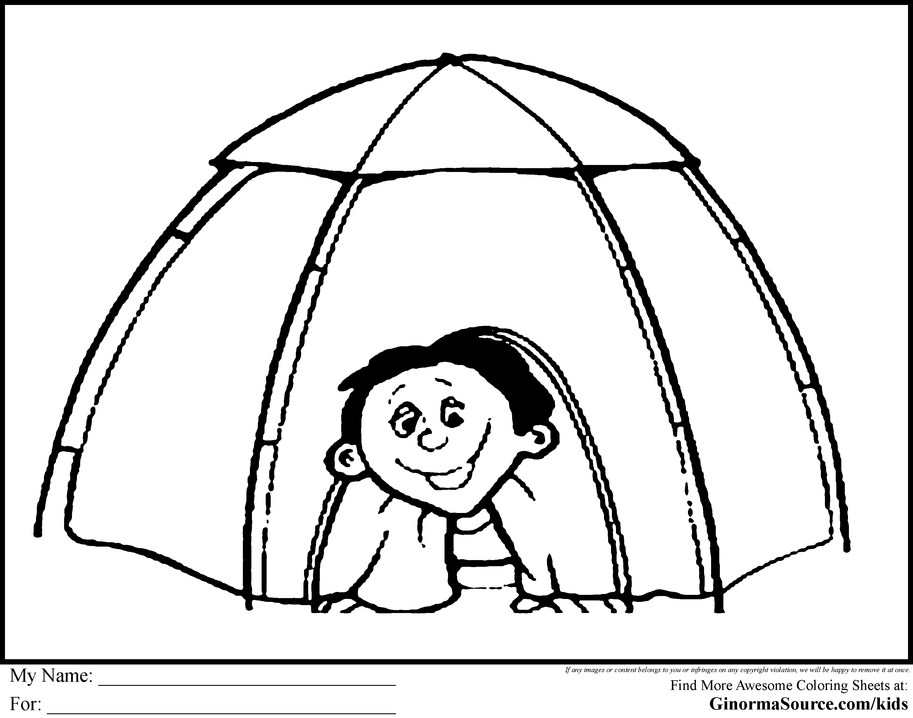 camping coloring pages tent | Everest VBS 2015 | Pinterest