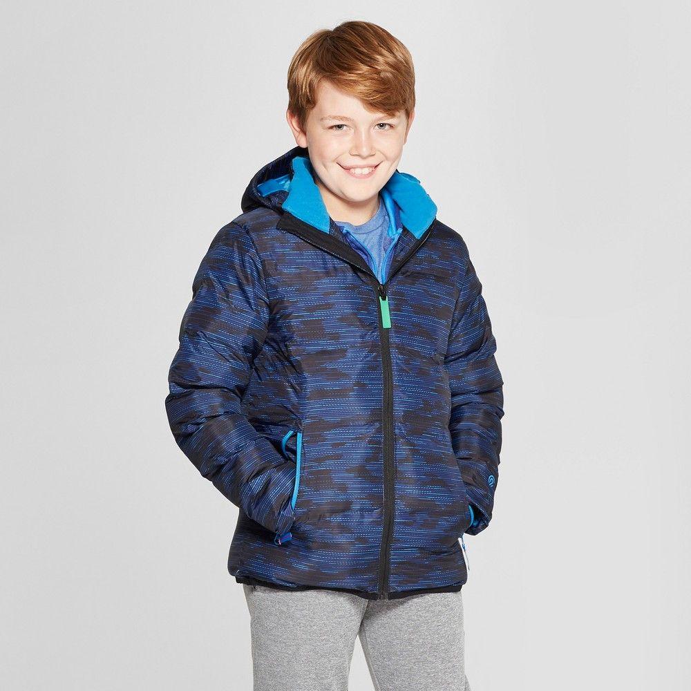 Boys Printed Puffer Jacket C9 Champion Royal Blue S In 2021 Jackets Boys Puffer Jacket Puffer Jackets [ 1000 x 1000 Pixel ]