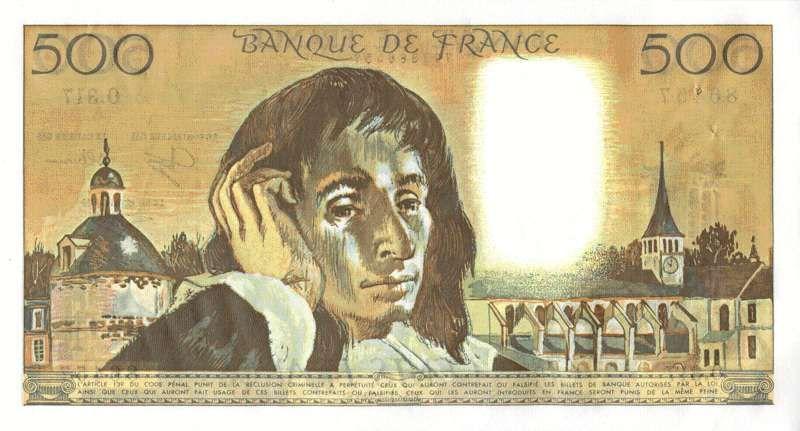 Collection Billet Banque De France F 71 500 Francs Pascal La