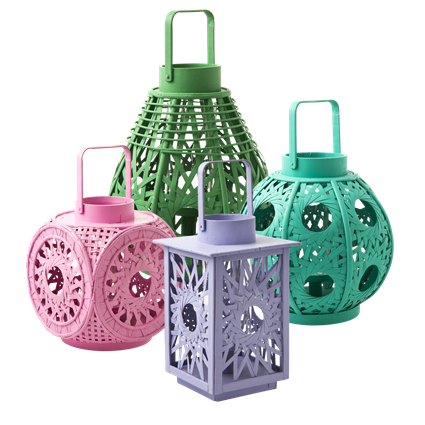 Bamboo Weave Lanterns In 4 Assorted Shapes And Colors Rice A S