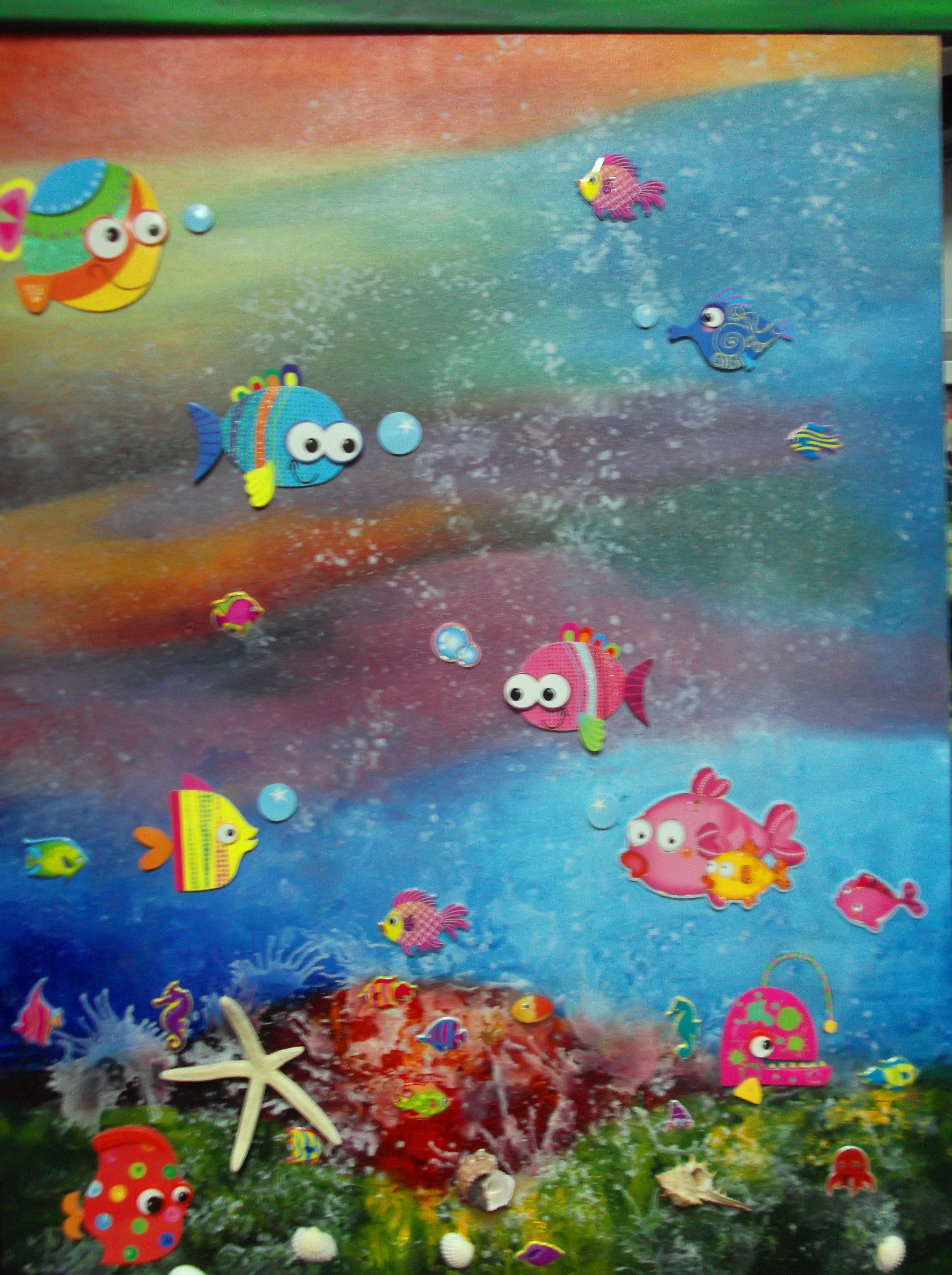 Fundo do mar...óleo sobre tela