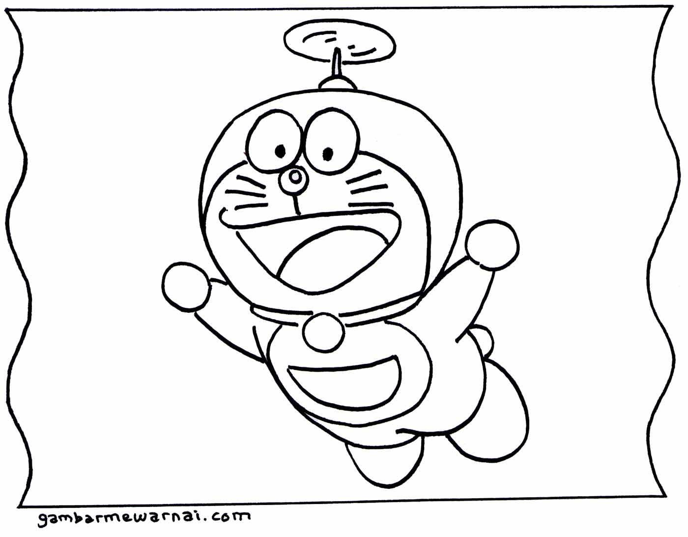 Gambar Mewarnai Doraemon Gambarmewarnai Com Dengan Gambar Buku