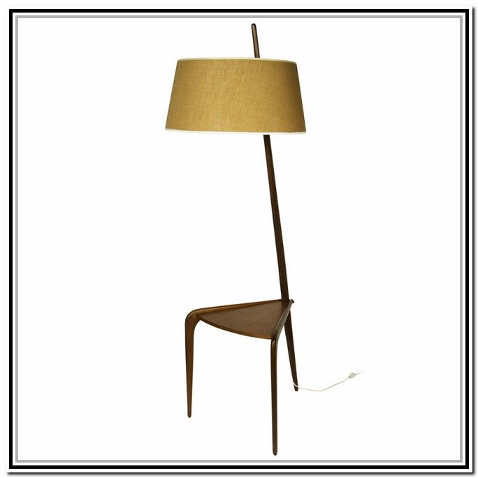 Modern floor lamp with attached table lighting floor lamp modern floor lamp with attached table aloadofball Image collections