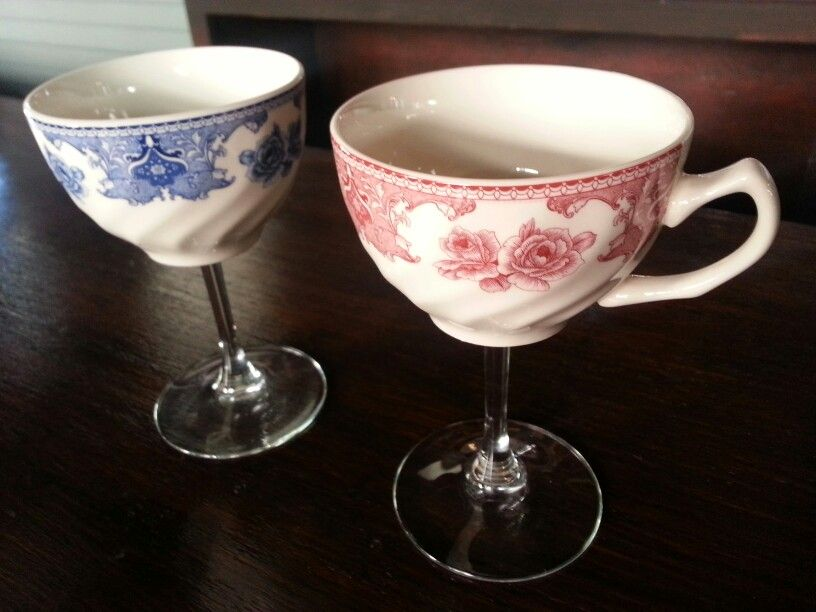 tea cup cocktail glasses at no vacancy
