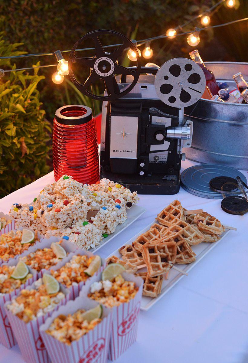 Birthday Party Ideas · 4 Steps To Hosting An Outdoor Movie Night By  Nibblesandfeasts.com Via @ForkfulBlog
